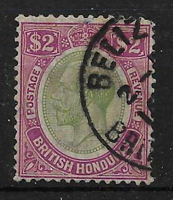 British Honduras Sg137 1922 $2 Purple & Green Used