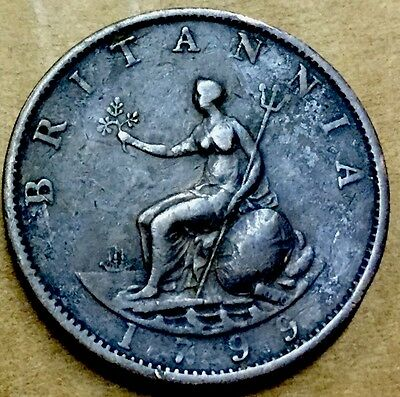 GB . King George III . 1799 . Half Penny . Nice Coin.