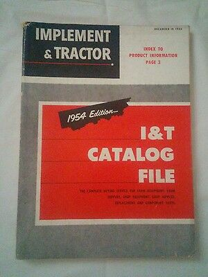Implement & Tractor Catalog File Parts Photos Advertisements Vintage 1954