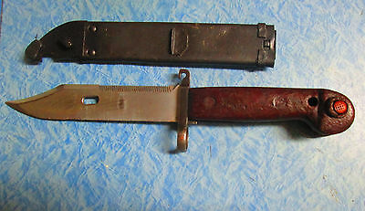 Vintage Bayonet ak with wire cutter sheath military army  free shipping in usa