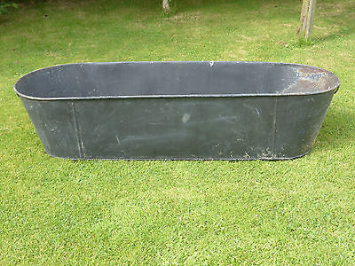 Large Vintage Heavy Duty Tin Bath Ideal Garden Planter/Wash dogs/ Drinks cooler