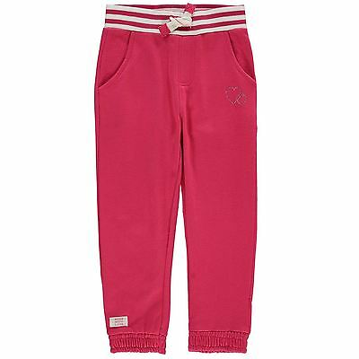 Crafted Kids Table Joggers Girls Jogging Bottoms Sweat Pants Jersey Drawstring