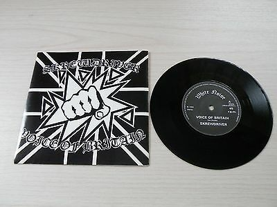 Screwdriver Voice Of Britain 45 Uk White Noise Records 1984 Punk As New
