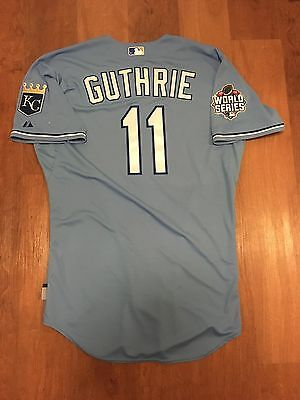Jeremy Guthrie World Series Game Issued Non Used 2015 Royals Jersey Mlb Coa