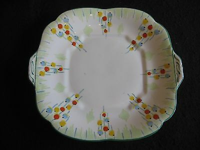 """ART DECO COLLINGWOODS HAND-PAINTED 'BALLOONS' #5836 10"""" CAKE/BREAD PLATE 30's EX"""
