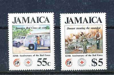 Jamaica 1987 125th Anniv of Int Red Cross set of 2