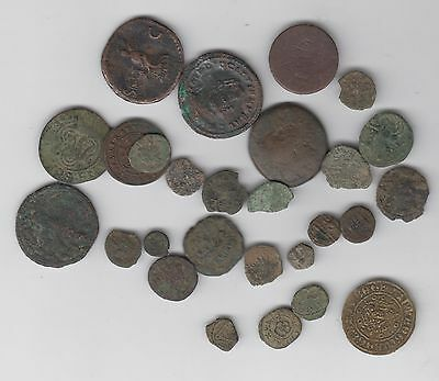 Collection Of Unidentified Ancient Coins Auction Starts At £5