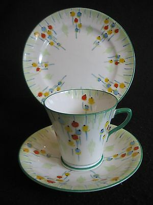 ART DECO COLLINGWOODS HAND-PAINTED 'BALLOONS' #5836 CUP/SAUC/PLATE TRIO 30's EX