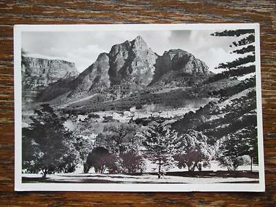 Cape Town University With Table Mountain, South Africa - Real Photo Postcard