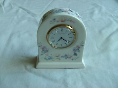 Wedgwood Angela Pattern Mantle Or Bedroom Clock, Fully Working With New Battery
