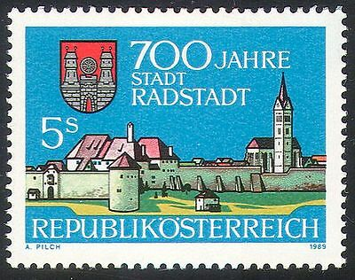 Austria 1989 Radstadt/Buildings/Architecture/City Walls/Church/Tower 1v (n33653)