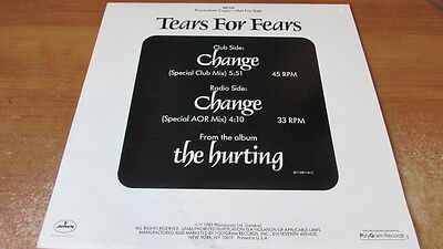 """Tears for Fears, Change; 2 track Promotional 12"""" LP"""