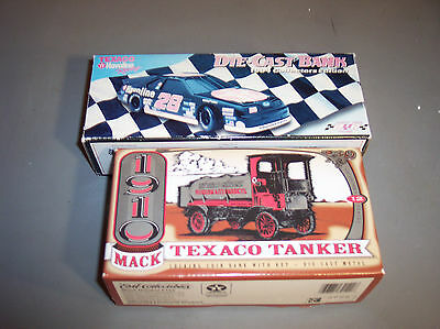 LOT2 TEXACO, TRUCK & Car Die Cast  BANK , Tanker, Robert Yates NEW