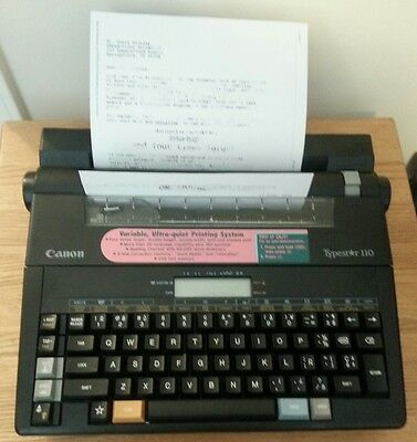 Canon Typestar 110 Electric Typewriter Word Processor with Cover Case!