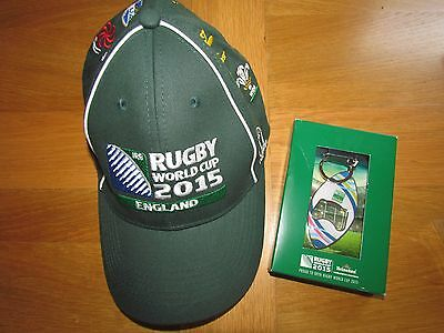 2015 Rugby World Cup England Baseball Cap & Matching Key-Ring.