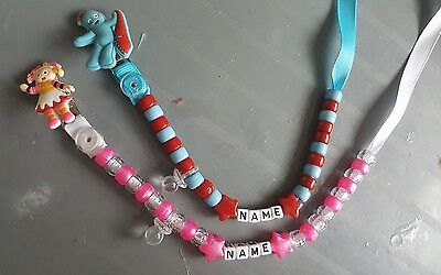 ***in The Night Garden*** Personalised Dummy Clip, **free Mam Ring** L@@k!