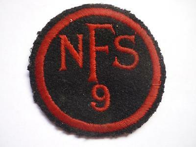 WWII Home Front  NFS National Fire Service  Area 9 Leicester Badge