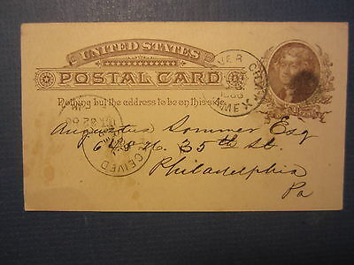 1886 OLD MAN MINING Co. Postal CARD - Silver City NEW MEXICO - Annual Meeting