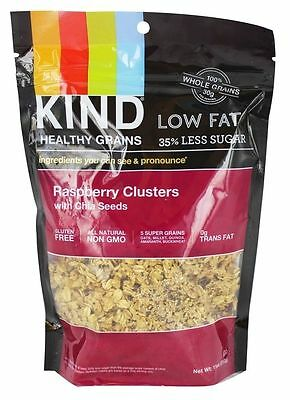 Kind Granola Cereal Healthy Grains Raspberry Clusters with Chia Seeds - 11 oz
