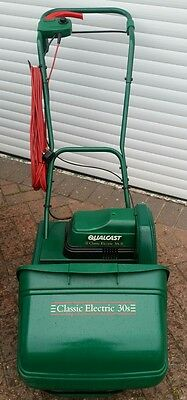 Self Propelled Qualcast Classic Electric 30s Cylinder Mower *Recent Service*
