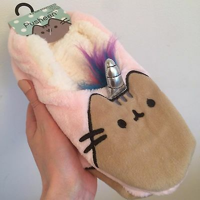Ladies PUSHEEN The CAT Slippers Slipper Socks Primark Womens Girls Footlets