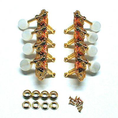Grover Deluxe F Type Mandolin Tuners 18:1 Ratio Gold/Pearl buttons