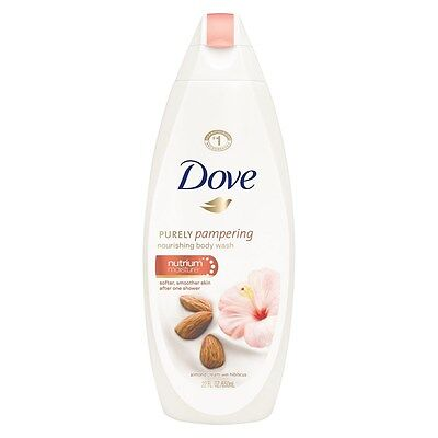 Dove Purely Pampering Body Wash, Almond Cream & Hibiscus 22 oz