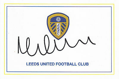 Michael Brown, Leeds United, Superb Hand Signed 6X4 Card,