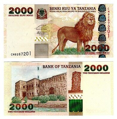 2003 Tanzania 2000 Shillings Uncirculated Note