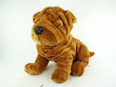 FAO Schwarz Shar Pei Plush Sharpei Puppy Dog Large Stuffed Animal Toy