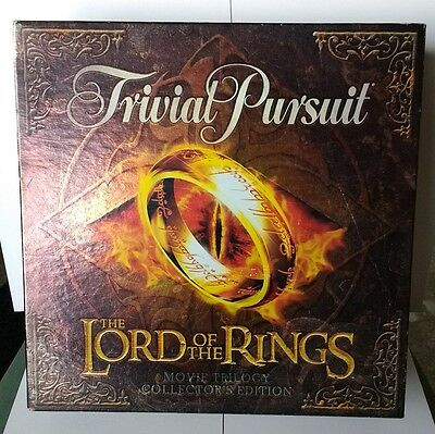 Lord of the Rings Trivial Pursuit Movie Trilogy Collectors Edition Rare