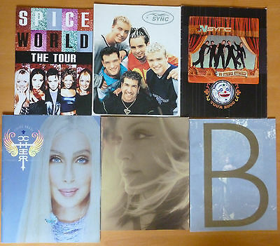 Concert Programs Cher Madonna Barbra Streisand NSYNC Spice Girls Free Shipping