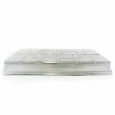 Humidity Dome Lids, (Qty. 10), Clear Plant Germination Dome Lids for 10x20 Tray