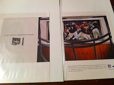 2007 Samsung Televison Watching TV From NFL Player View Facemask Helmet Print ad