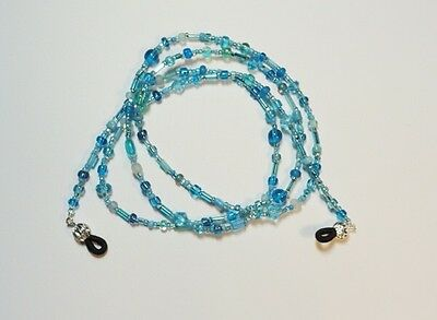 Handcrafted Eyeglass Holder, Turquoise, Length and Fastener Choice, Lovely!