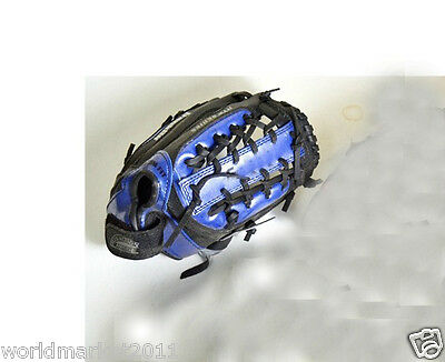 Sporting Goods PVC Material 11.5 Inches Wear-Resisting Baseball Glove Blue &$