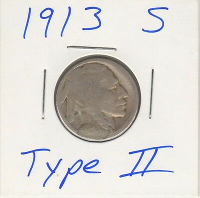 1913 S Type 2 Buffalo Nickel - KEY DATE