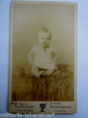 Photo Cdv Bebe Petit Rene A 7 Mois Paris Touranchet Original