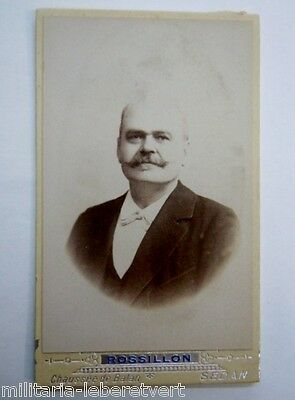 Photo Cdv Portrait Homme Par Rossillon A Sedan  Original