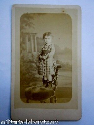 Photo Cdv Petite Fille Par Hugon A Paris  Original