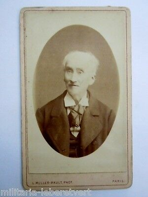 Photo Cdv Portrait Vieil Homme Paris Muller Rault Original