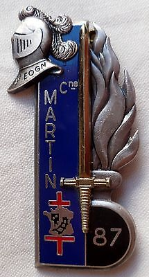 Insigne 87° Promotion Eogn Gendarmerie Capitaine Martin Officiers Original