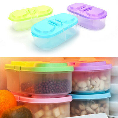 Plastic Kitchen Container Fresh Fruit Food Snack Storage Sauce Box Food Case WF