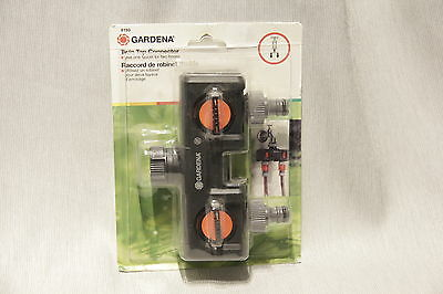 GARDENA 8193 Twin Tap CONNECTOR for Arthritics Individual Flow Control, NEW!