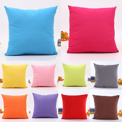 Simple Throw Pillow Case Decorative Square Soft Cushion Cover Home Sofa Decor