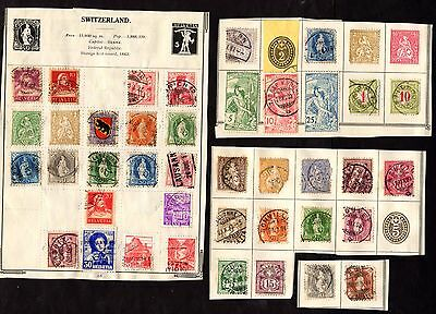 Stamps ~ SWITZERLAND SWISS HELVETIA ~ Unsorted EARLY