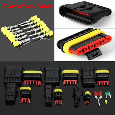 Practical Car 1/2/3/4/5/6 Pin Wire Way Electrical Connector Terminal Blade Fuses