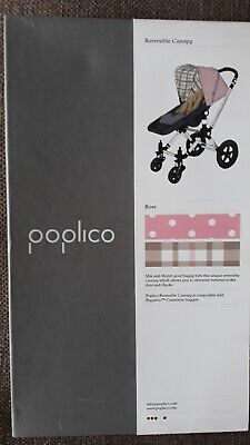 Poplico Reversible Hood Canopy for Bugaboo Cameleon  Rose Pink Spot