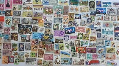 3000 Different British Commonwealth all periods but no GB Stamp Collection