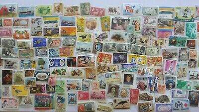 2000 Different British Commonwealth Stamp Collection - MINT STAMPS